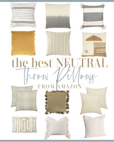 The best neutral throw pillows from Amazon. http://liketk.it/39Ess #liketkit @liketoknow.it #LTKhome @liketoknow.it.home