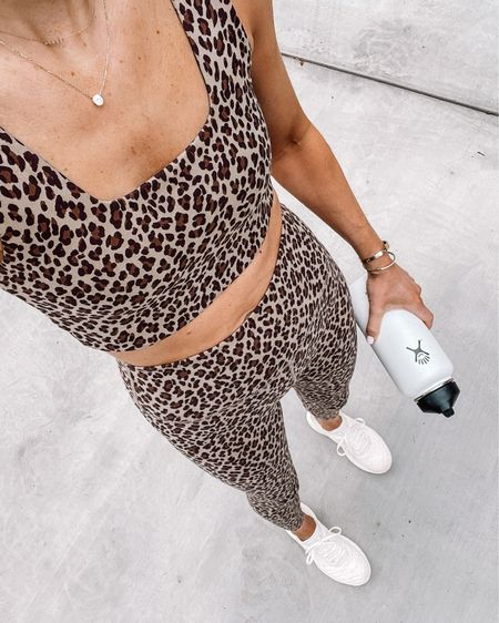 Love this leopard set from Shopbop and it's on sale! Fits TTS. Linked APL sneakers some on sale too! #fitness #shopbop #apl http://liketk.it/3ii36 @liketoknow.it #liketkit #LTKsalealert #LTKfit #LTKunder100