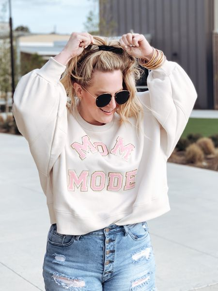 The softest and cutest sweatshirt in my closet right now!  I missed the restocks several times and let's just say that the wait was totally worth it! Grab it now while it is still in stock!    #LTKSeasonal #StayHomeWithLTK #LTKstyletip