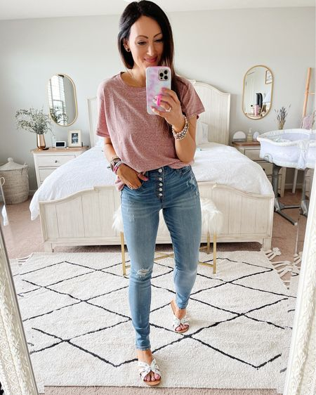 • size up one in tee • size down one in jeans if between sizes  http://liketk.it/3frob #liketkit @liketoknow.it