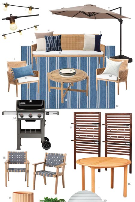 Our outdoor patio furniture and outdoor dining space! Can't wait for everything to arrive! Best of all, no long wait time for furniture and really affordable   #LTKSeasonal #LTKhome