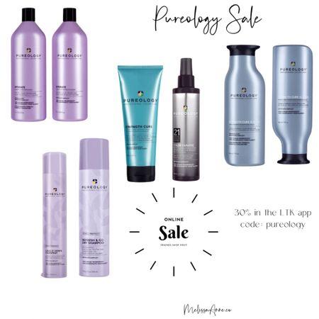 Pureology sale! Shampoo, conditioner, dry shampoo, hair masks all 30% off #ltksale #ltkday #shampoo #conditioner @liketoknow.it #liketkit http://liketk.it/3hqbC