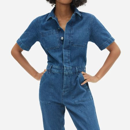 One of my fav jumpsuits is finally on sale!! I own it in cream and now I was the denim color as well. This is nearly sold out but a few sizes are left.   #LTKSale #LTKstyletip #LTKsalealert