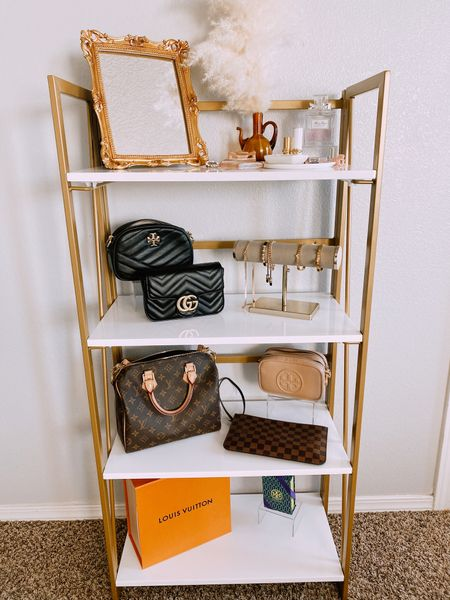 Cutest and prettiest shelf to organize your precious bags http://liketk.it/3faNo #liketkit @liketoknow.it #LTKhome #LTKunder100 #LTKunder50