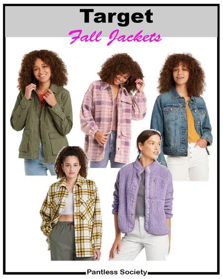 Target style. Fall fashion. Fall jacket. Leather jacket. Fall shacket. Denim jacket. Fall outfit. Fall wardrobe refresh. Labor Day sale. 20% off with Target Circle. Sale alert. Olive jacket. Plaid jacket.   #LTKunder50 #LTKsalealert #LTKstyletip