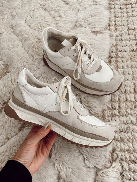 Madewell trainer sneakers  I've had these since last year and they're super comfortable (a little heavier than the j. Crew trainers)  Run true to size  20-25% off   #LTKunder100 #LTKsalealert #LTKshoecrush