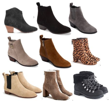 Fall suede booties!!! Must haves for fall fashion. My favorite ones and mostly on sale! Some of them are under $100. These are in stock and in lots of sizes. Try a low heel for every day or a high heel for going out. It's sweater weather! http://liketk.it/2YQyU #liketkit @liketoknow.it #LTKstyletip #LTKunder100