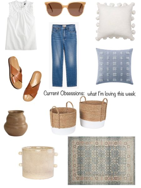 My Current Obsessions for the week!   Adorable sunglasses, summer-weight denim, affordable pillows, a pretty rug, my favorite new vases & more.    You can instantly shop my looks by following me on the LIKEtoKNOW.it shopping app http://liketk.it/3hcR7 #liketkit @liketoknow.it @liketoknow.it.home   #LTKunder50 #LTKunder100 #LTKhome