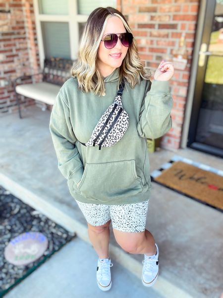 Sweatshirt size large (fits oversized) Bike shorts xl tts Shoes tts  #LTKcurves #LTKstyletip #LTKunder50