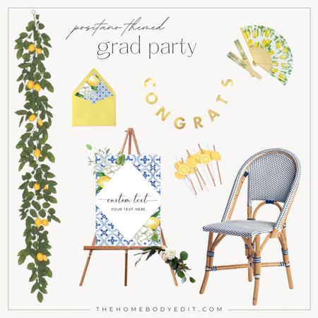 GRADUATION PARTY ideas! This graduation theme will make your child's grad party one to remember! Who doesn't love an Italy inspired themed party?!   #LTKSeasonal #LTKfamily #LTKhome