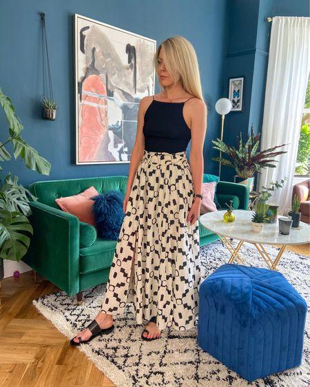 http://liketk.it/2PJy2 #liketkit @liketoknow.it #LTKeurope #LTKspring #LTKunder50 @liketoknow.it.home @liketoknow.it.family @liketoknow.it.europe belted printed maxi skirt, maxi skirt outfit, printed maxi skirt