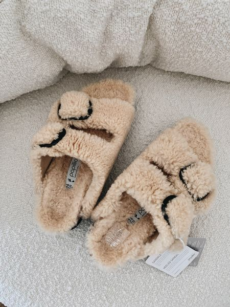 Sherpa Birkenstock's. Wearing size 36  #LTKshoecrush