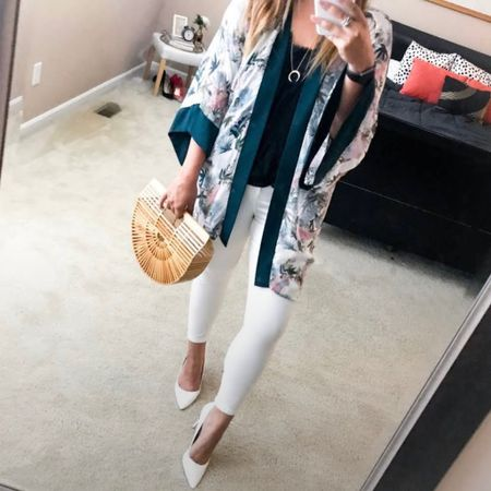 This is an old photo but I stumbled across it and I need to recreate it soon! 😍 for hot days, I'd swap out white shorts and sandals 🤍 I found a similar kimono for $14 and am linking the rest of the look 👉🏼 this has been the longest/busiest short week but happy almost friday!   #LTKunder50 #LTKSeasonal #LTKstyletip