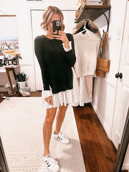 This mixed media sweater dress has been a favorite for years.   #LTKunder100 #LTKSeasonal #LTKstyletip