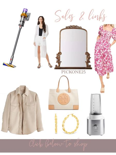 Sales and links of the day! 🤍 Love the brand new Dyson vaccuum - has a laser to identify where the dirt is... def ordering it 👏🏻 Cute duster cardigan (2 color options) on sale, my Anthropologie mirror dupe is already so affordable + an additional 25% off with the code PICKONE25 & midi floral dress under $50 is so cute for summer.. Tory Burch discounted, zwilling blender under $100 and more!! All linked below http://liketk.it/3gFTh #liketkit @liketoknow.it #LTKsalealert #LTKhome #LTKunder100