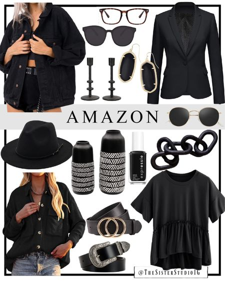 Amazon finds for fall!🖤 Home decor + fashion finds.      #LTKhome #LTKstyletip #LTKSeasonal
