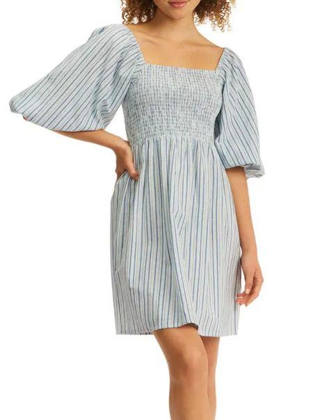 Nordstrom Anniversary Sale! Summer dress, striped smocked dress, Vacation dress   #LTKsalealert #LTKunder50