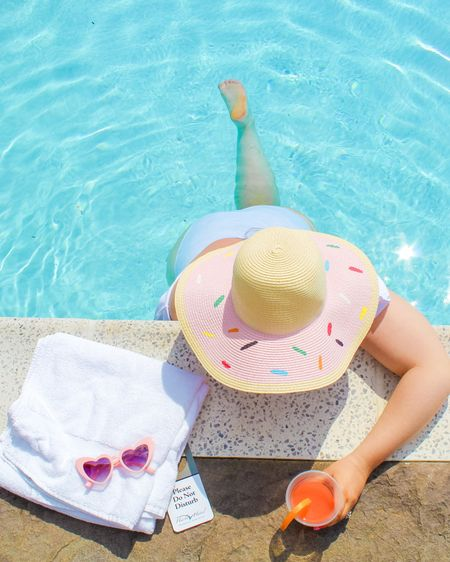 Affordable straw beach hats perfect for the pool or a bright & sunny beach day! Linking three similar options to my donut hat, as well as a really cute lemon option! http://liketk.it/3hCZE #liketkit @liketoknow.it #LTKcurves #LTKtravel #LTKunder50