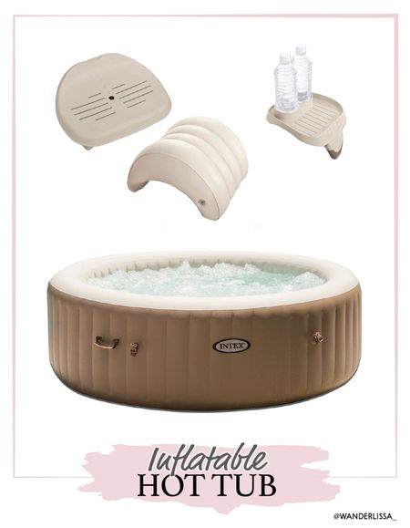I love my Intext Inflatable hot tub. It's so easy to set up and maintain all summer long! 🧖🏼♀️   #LTKswim #LTKhome #LTKSeasonal