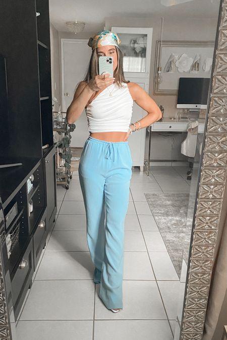 Amazon haul 💫 Top comes in 19 colors!! Pants are from Zara - Color Sky blue | 7936/020  #LTKtravel #LTKSeasonal #LTKunder50