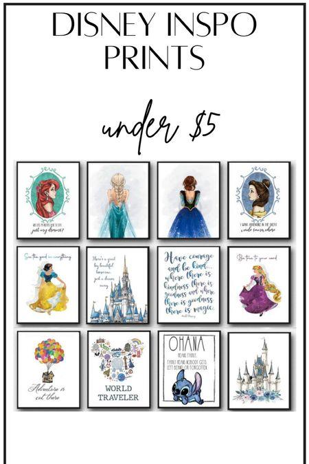 Disney inspo prints #thedailydupes  #LTKhome #LTKkids #LTKsalealert