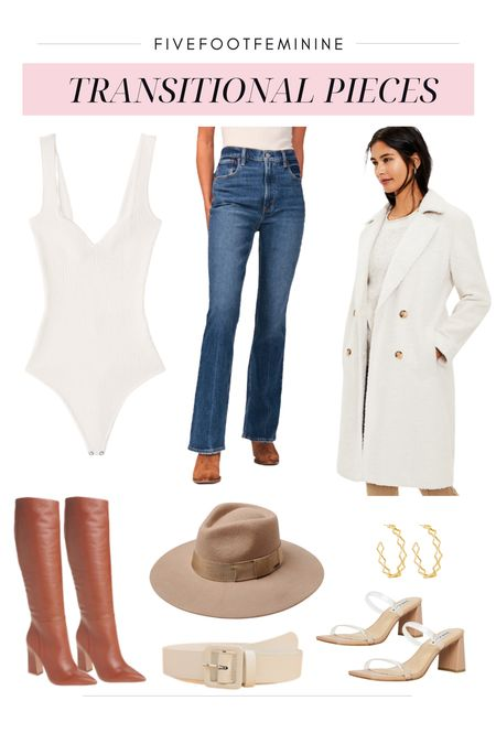 Here's some staple pieces you can mix and match to transition your wardrobe to fall #ltkfall #falloutfit #boots #felthat #whitecoat   #LTKSeasonal #LTKstyletip