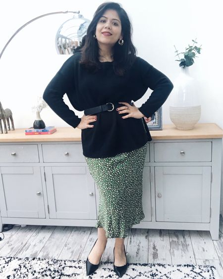 My new green leopard green satin midi skirt from @ self. I have listed a few more in my @liketoknow.it .    Follow me on the LIKEtoKNOW.it app to get the product details for this look and others   http://liketk.it/2zplW #liketkit #LTKunder50
