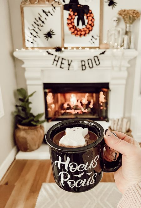 5 more days until Halloween! Had to get one more pic of the spooky fireplace up!! How many times have you watched Hocus Pocus this month??? We're on our fourth time lol!!!   #LTKhome #LTKSeasonal #LTKHoliday