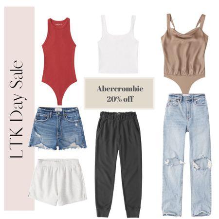 Not so basic basics 20% off at Abercrombie for LTK Day! You need this ribbed bodysuit in your life! http://liketk.it/3hae5 #liketkit #LTKDay #LTKsalealert @liketoknow.it