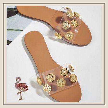 Metal decor summer sandals   http://liketk.it/3idAp #liketkit @liketoknow.it #LTKshoecrush #LTKunder50 #LTKstyletip You can instantly shop my looks by following me on the LIKEtoKNOW.it shopping app