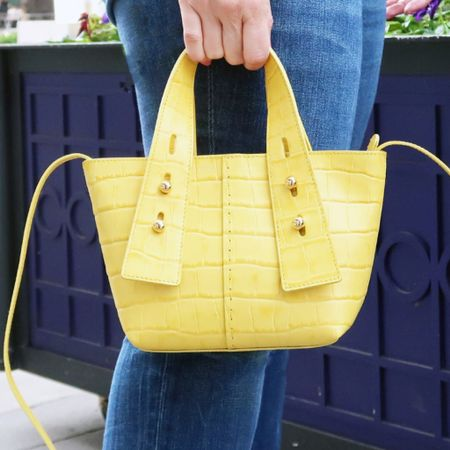 In addition to this fabulous yellow mini tote, Frame Denim has so many cute jeans and jackets this season! 😍 you can see my current favorites here -> http://liketk.it/2SoKM Shop my daily looks by following me on the @liketoknow.it shopping app  #liketkit #LTKDay #LTKitbag #LTKsalealert