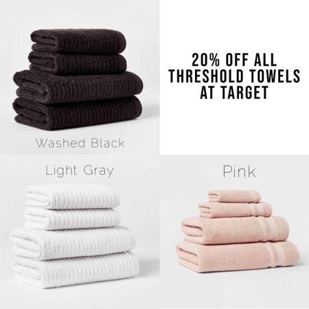 Threshold sale at Target! All Yhreshold towels 20% off! Here's what I got.   Bath towels, hand towels   #LTKhome #LTKsalealert
