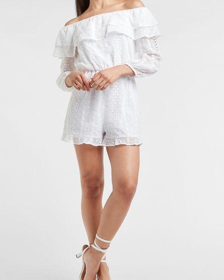 White dresses  @liketoknow.it.home @liketoknow.it.family #LTKstyletip #LTKtravel #LTKunder100 #liketkit http://liketk.it/3h7H7 @liketoknow.it        Romper White dresses Summer outfits  Summer dress White eyelet Eyelet dress Beach dress Beach outfit  Beach vacation outfits