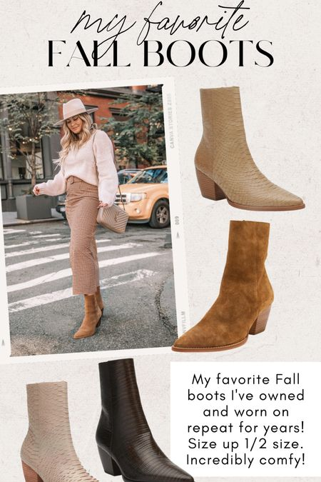 Favorite Fall boots! Matisse Caty. Size up 1/2 size - super comfy.   Also included a similar style by Matisse for 1/4 of the price!