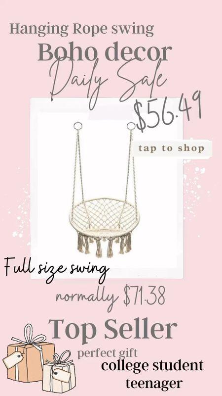 Full size Boho swing… Amazing Deal! Great gift  $56.49 Normally $77.38 .   #LTKGiftGuide #LTKsalealert #LTKHoliday