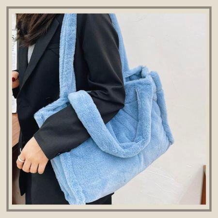 Fluffy shoulder tote bag  #LTKitbag #LTKstyletip #LTKunder50