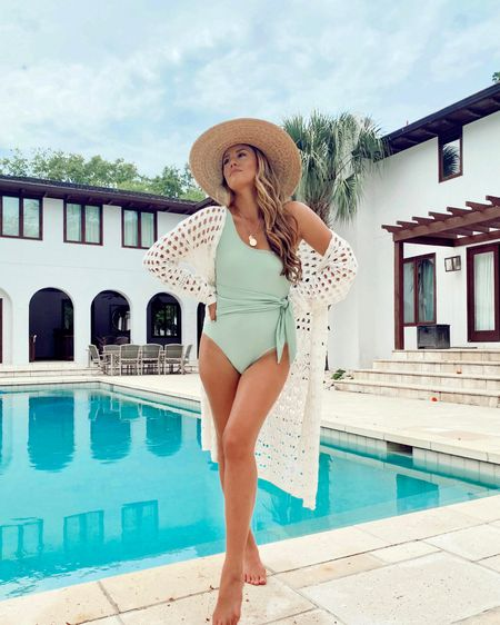 The most perfect one piece swimsuit you need this summer and it comes in two gorgeous  colors! Such amazing quality and a flattering tie waist 💕 http://liketk.it/3hJUy @liketoknow.it #liketkit #LTKswim #LTKunder50 #LTKunder100