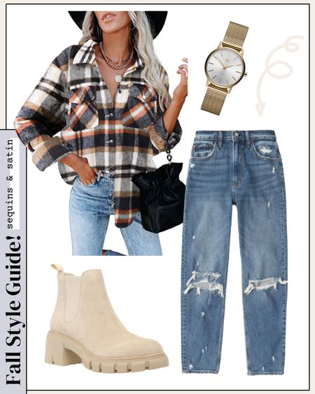 Perfect fall outfit idea!! Shacket comes in tons of color options too. #amazonshackets #amazonfinds #jeansoutfit #abercrombie   #LTKshoecrush #LTKstyletip #LTKunder50