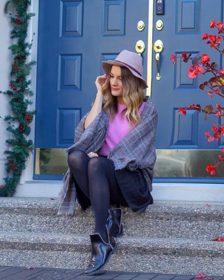 http://liketk.it/2ykzR #liketkit @liketoknow.it   @liketoknow.it.europe #LTKholidaystyle #LTKholidaywishlist #LTKunder100 #LTKunder50 #LTKshoecrush Pretty fall outfit in purple, grey and pink 💕 Linked similar items below.