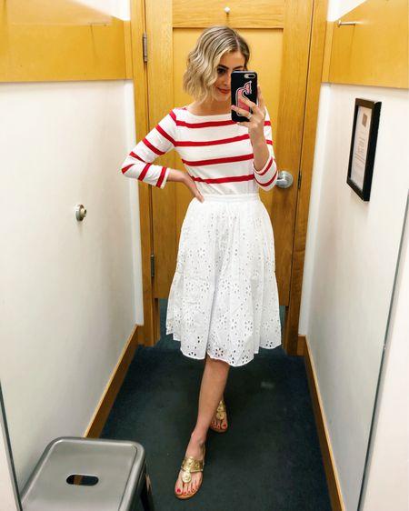 The sweetest eyelet skirt ❤️ I would recommend sizing down one size! http://liketk.it/3dBOF #liketkit @liketoknow.it