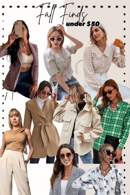 Fall style / fall trends / shacket under $50 / fall trends under $50 #fallfashion #style   #LTKunder100 #LTKunder50 #LTKSeasonal