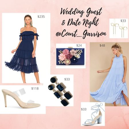 ♥️♥️♥️ The perfect spring look for a formal wedding guest or a fabulous date night! I included a glam clutch, little blue dress, gold accessories and red lipstick! Plus, a sparkly sling back heal glam option as a splurge!  Happy Shopping!  . . . #springdress #springoutfit #amazonfinds #weddingguest #weddingguestdress #datenight #momfashion #navydress #littleblackdress #weddingshoes #nudeheels #target #targetfinds  .  http://liketk.it/3cb3a #liketkit @liketoknow.it     . .  #LTKSpringSale #LTKshoecrush #LTKsalealert