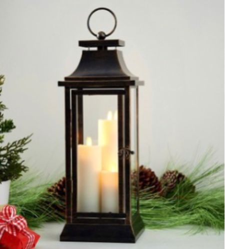 Holiday Decor🎄  3 size and  5 colors of this amazing 3 battery operated lanterns and perfect on the porch, on the hearth or mantle! Options are endless.  . SALE .   #LTKSeasonal #LTKHoliday #LTKsalealert