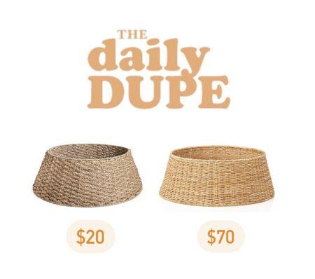 Tree Collar, Daily Dupe, Save vs Splurge   #LTKSeasonal #LTKHoliday