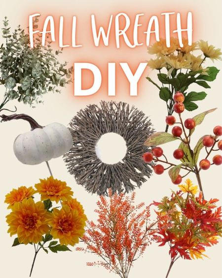 I love DIYing a fall wreath each year. And it's so easy to do. Here are the products I used to make a colorful fall wreath for my fall front porch decor. Fall wreaths, autumn wreath, fall front door, fall decor, outdoor fall decorations, outdoor fall decor, fall front porch decorations.   #LTKHoliday #LTKSeasonal #LTKhome
