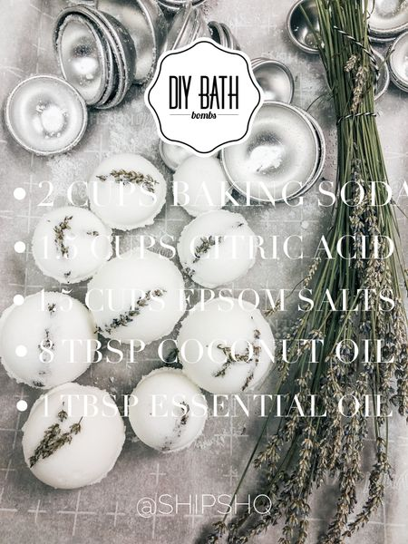 DIY bath bombs. Great for DIY gifts, or just for the bath bomb obsessed. 😍 Linking molds and ingredients   #LTKbeauty #LTKGiftGuide #LTKunder50