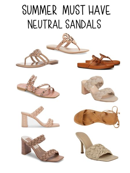 Neutral sandals are a summer must have. I'm sharing 4 of my summer must haves on the blog.   #LTKstyletip #LTKshoecrush #LTKSeasonal