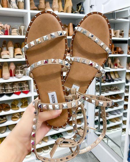 The cutest studded sandals from Steve Madden 😍  #LTKunder100 #LTKshoecrush