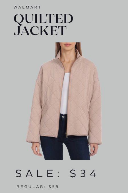 Walmart quilted jacket  #LTKsalealert