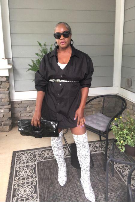 http://liketk.it/2Y5VK #liketkit @liketoknow.it #blackshirtdress #zebraprint #boots #drjackistreetstyle